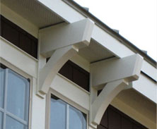 decorative exterior bracket