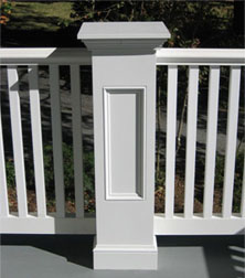 exterior porch pvc railings