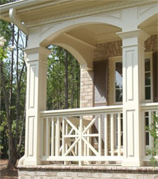 pvc railings - chippendale rail