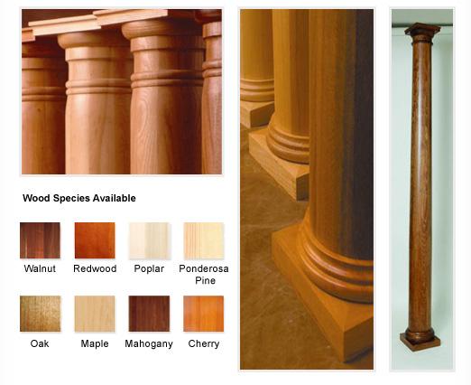 round wood columns